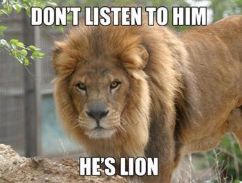Pun of a lion